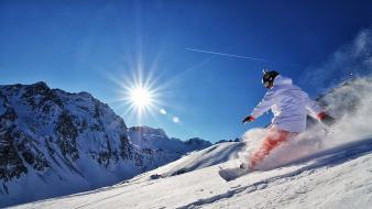 Mountains snow sports snowboarding winter wallpaper