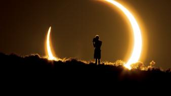 Nature sun moon silhouettes national geographic solar eclipse wallpaper