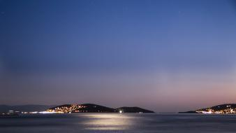 Night islands istanbul skies sea wallpaper