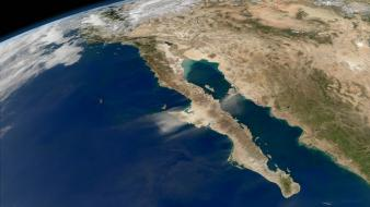 Ocean outer space earth california pacific wallpaper