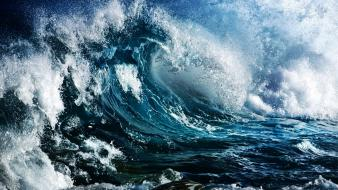 Ocean waves storm sea wallpaper