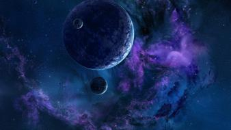 Outer space stars planets nebulae wallpaper
