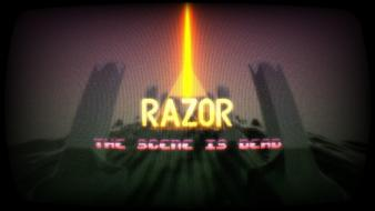 Pixel art razor1911 demoscene 8bit wallpaper