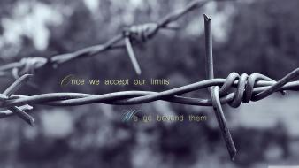 Quotes barbed wire limitless wallpaper