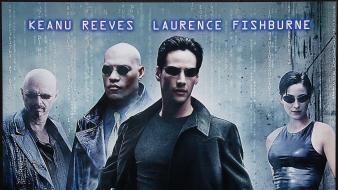 Reeves carrie-anne moss movie posters laurence fishburne wallpaper
