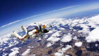Sports red bull jump felix baumgartner base wallpaper