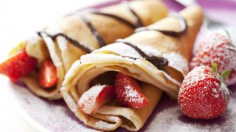 Strawberries crepes wallpaper
