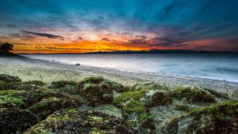 Sunset seattle washington state beach wallpaper