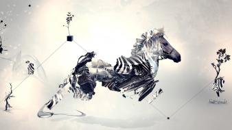 Surreal zebras creative wallpaper