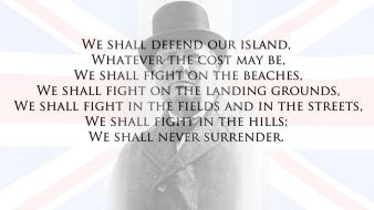Union flag winston churchill speech never surrender wallpaper
