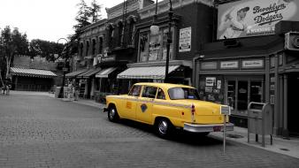 Usa los angeles taxi selective coloring universal studios wallpaper