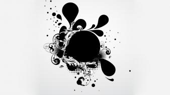 Vector circles shapes ink graphics art wallpaper