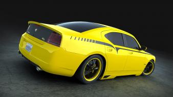 Yellow cars custom dodge tuning charger srt8 Wallpaper