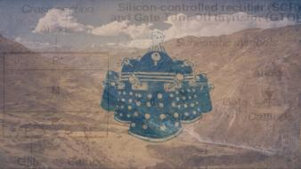 Abstract dalek electronics Wallpaper