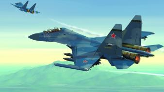Aircraft military artwork aviation su-30mki wallpaper