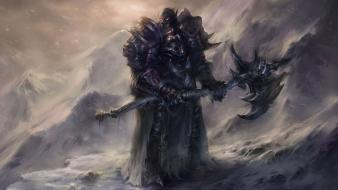 Armor axes artwork warriors death knight orc wallpaper