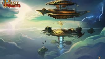 Art machines floating island valencia pirate 101 wallpaper