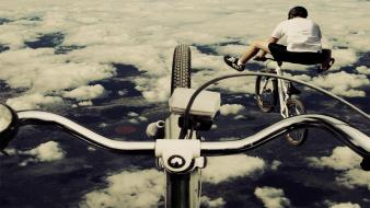 Bike flying air wallpaper