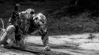 Black and white magnum slayer halo 4 Wallpaper
