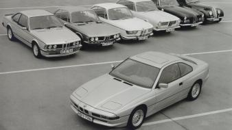 Bmw cars grayscale monochrome vehicles 8 series 1990 wallpaper