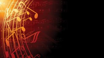 Classical graphic art vector music notes wallpaper