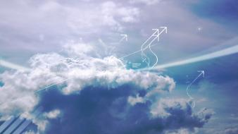 Clouds digital art wallpaper