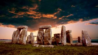 Clouds landscapes nature stonehenge wallpaper