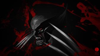 Comics wolverine red eyes artwork selective coloring wallpaper