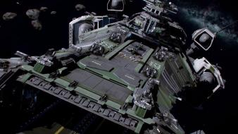 Futuristic galaxies spaceships star citizen wallpaper