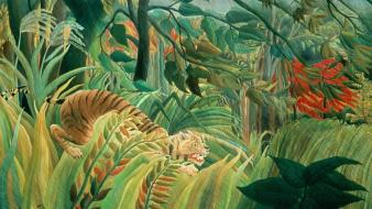 Grass artwork french traditional art henri rousseau wallpaper