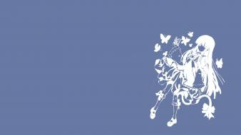 Hair bern frederica bernkastel simple background butterflies wallpaper