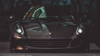 Horses vehicles 599 gto races front view wallpaper