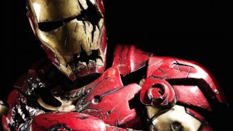 Iron man cosplay zombies shattered artwork wallpaper