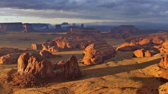 Landscapes nature canyon cliffs monument valley evening wallpaper