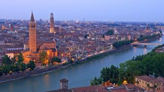 Landscapes nature church italy anastasia verona santa Wallpaper