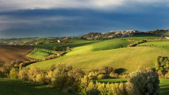 Landscapes nature fields scenic tuscany wallpaper