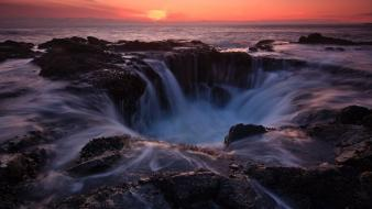 Landscapes waterfalls seascapes seascape wallpaper