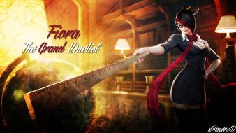 League of legends fiora the grand duelist wallpaper