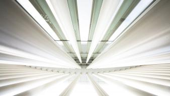 Lights white tubes harmony perspective rays wallpaper