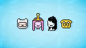 Marceline vampire queen princess bubblegum pixel 8-bit Wallpaper