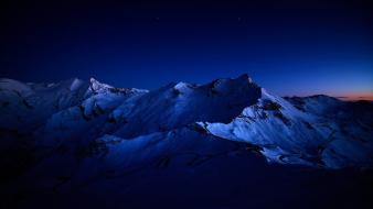 Mountains darkness night sky wallpaper