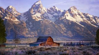 Mountains landscapes grand teton national park Wallpaper