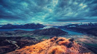 Mountains landscapes new zealand queensland queenstown wallpaper