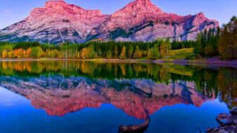 Mountains nature glow lakes mount wallpaper