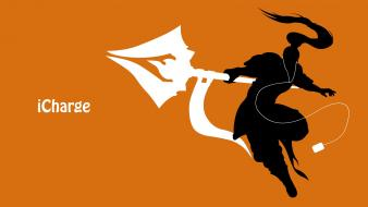 Orange ipod league of legends spears xin zhao wallpaper