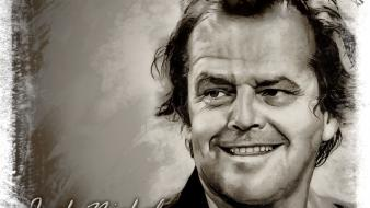 Paintings jack nicholson actors movie legends wallpaper