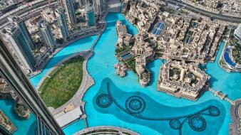 Project top view burj khalifa wallpaper