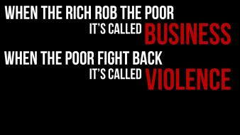 Quotes poor business hypocrisy black background passage wallpaper
