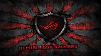 Red asus rog sunburst wallpaper