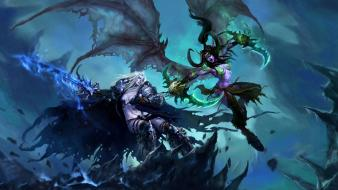 Rule 63 illidan stormrage arthas death knight wallpaper
